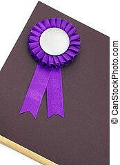 Certificate and award ribbons badge