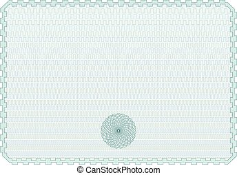Certificate Background WIth Rosette - Horizontal Geometric...