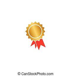 Certificate badge graphic design template