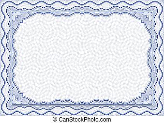 Certificate - blue certificate template