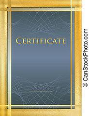 Certificate blue/gold