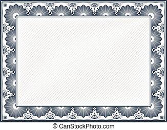 Certificate Border - Diploma or Certificate Blank Vintage ...