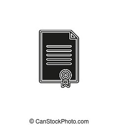 certificate creative icon. Simple element