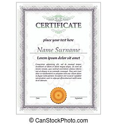 Eps vector of certificate template with third prize concept certificate design template vector yadclub Image collections