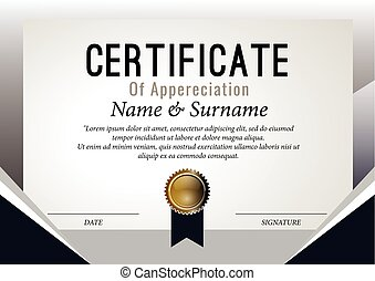 Certificate Design Template. Vector, illustration
