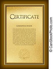 Certificate - Diploma - award