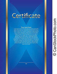 Certificate diploma - Basis for creating a certificate, ...