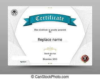 Certificate diploma border, Certificate template. vector illustration