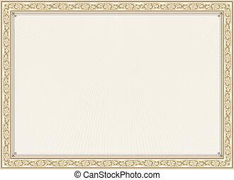 Vector illustration of detailed certificate
