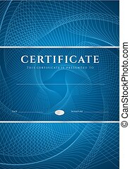 Certificate, Diploma of completion. Guilloche - Certificate...