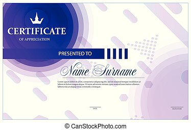 Certificate, Diploma of completion (template