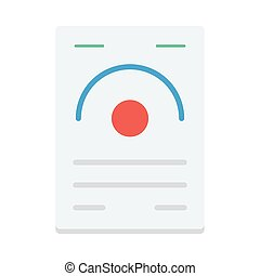 certificate flat icon