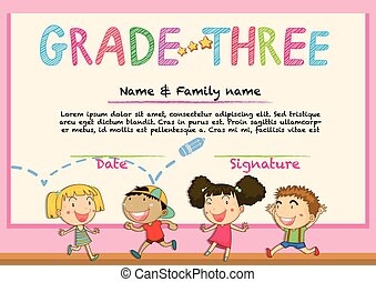 Certificate for grade three students