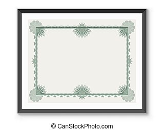 Certificate frame template