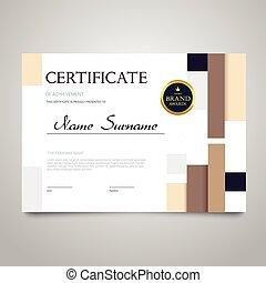 Certificate - horizontal elegant vector document -...