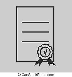 certificate icon approve