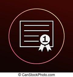 Certificate icon