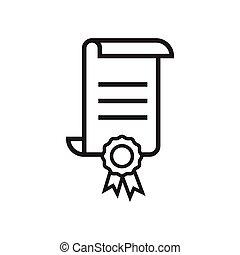 Certificate icon graphic design template vector