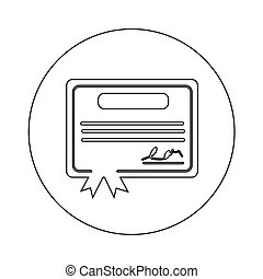 Certificate Icon illustration design