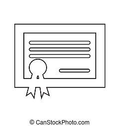 certificate icon Illustration design