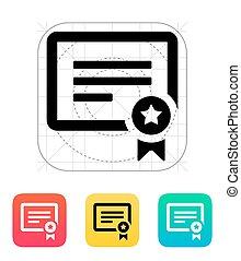 Certificate icon.