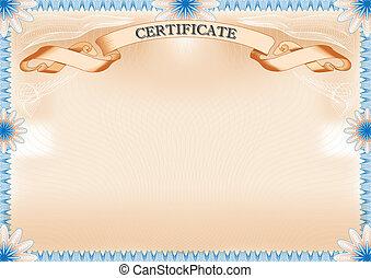 Certificate landscape format.