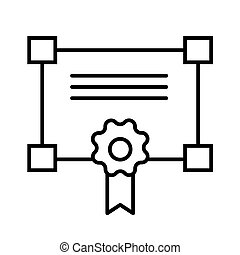 Certificate line icon. vector illustration isolated on white. outline style design, designed for web and app. Eps 10