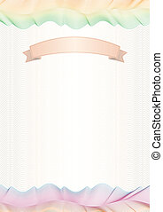 Colored wavy lines Certificate, graduate diploma with ribbon for your text.