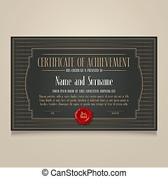 Certificate of achievement, appreciation vector design
