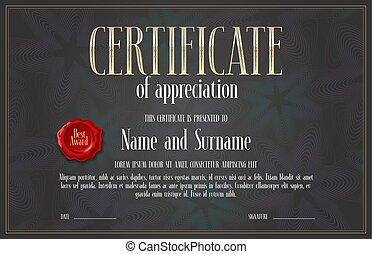 Certificate of achievement, appreciation vector design