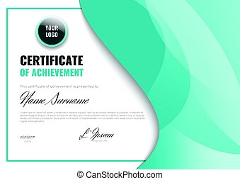Certificate of achievement (completion, appreciation, graduation, diploma or award).