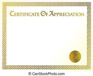 certificate of achievement illustration template