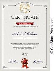 Certificate of Achievement portrait