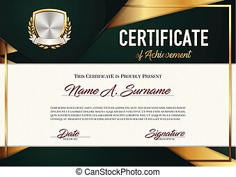 Certificate of Achievement. Premium.