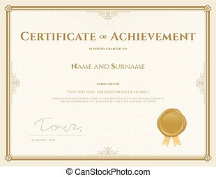 certificate for achievement template