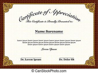 Certificate of Appreciation Full