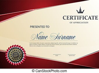 Certificate of Appreciation template.