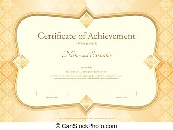 Certificate of appreciation template in vector with applied...