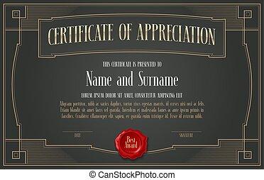 Certificate of appreciation vector design