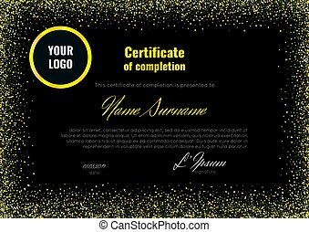 Vector of certificate of achievement template with award laurel on certificate of completion appreciation achievement graduation diploma or award with the yadclub Gallery