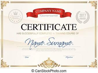 Kindergarten certificate template for preschool graduation eps certificate of completion template yelopaper Choice Image