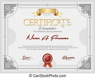 Certificate of Completion Vintage