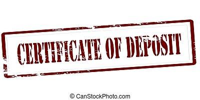 Certificate of deposit
