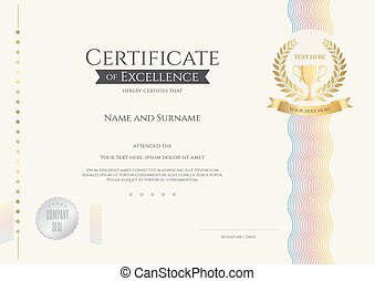 Certificate of excellence template vectors - Search Clip Art ...