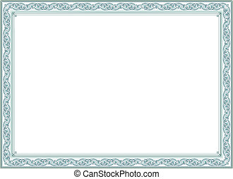 Certificate or diploma template - Pattern that is used in...