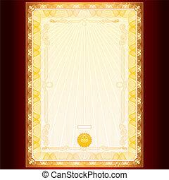 Certificate or Diploma Template - Royal Golden Diploma....