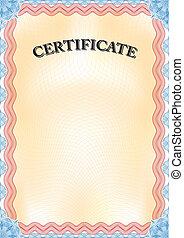 Certificate portrait format.