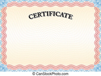 certificate red border 3