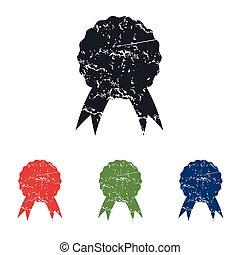 Certificate seal grunge icon set