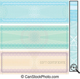 Certificate template, vector without gradients ,easy...